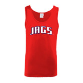 Red Tank Top-Jags Arched