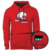 Contemporary Sofspun Red Hoodie-Official Logo