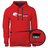 Contemporary Sofspun Red Hoodie-Jaguar Head w/ Flat Logo