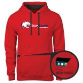 Contemporary Sofspun Red Hoodie-Jaguar Head w/ Flat Logo