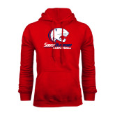 Red Fleece Hood-Basketball