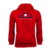 Red Fleece Hoodie-South Alabama Football Arched