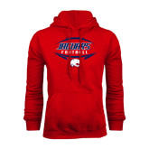 Red Fleece Hood-Jaguars Football In Ball