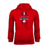 Red Fleece Hood-Jags Football Tall