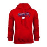 Red Fleece Hoodie-Jaguars Football Stacked
