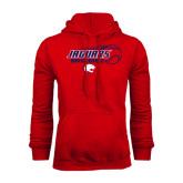 Red Fleece Hoodie-Jaguars Baseball Flying Ball