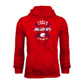 Red Fleece Hoodie-Jaguars Softball Seams