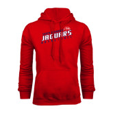 Red Fleece Hoodie-South Alabama Jaguars Basketball Slanted