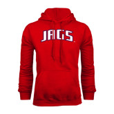 Red Fleece Hoodie-Jags Arched