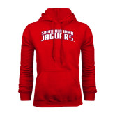 Red Fleece Hoodie-South Alabama Jaguars Arched