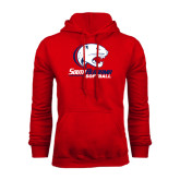 Red Fleece Hood-Softball