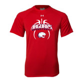 Under Armour Red Tech Tee-Jaguars Basketball Arched In Ball