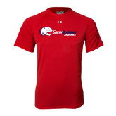 Under Armour Red Tech Tee-Jaguar Head w/ Flat Logo