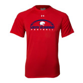 Under Armour Red Tech Tee-South Alabama Football Arched