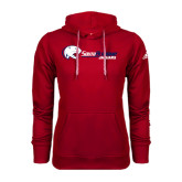 Adidas Climawarm Red Team Issue Hoodie-Jaguar Head w/ Flat Logo