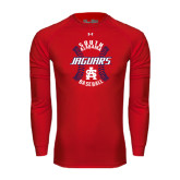 Under Armour Red Long Sleeve Tech Tee-Jaguars Baseball Seams