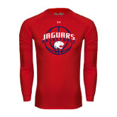 Under Armour Red Long Sleeve Tech Tee-Jaguars Basketball In Ball