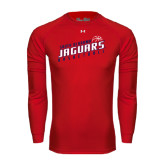 Under Armour Red Long Sleeve Tech Tee-South Alabama Jaguars Basketball Slanted