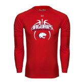 Under Armour Red Long Sleeve Tech Tee-Jaguars Basketball Arched In Ball
