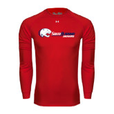 Under Armour Red Long Sleeve Tech Tee-Jaguar Head w/ Flat Logo