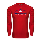 Under Armour Red Long Sleeve Tech Tee-South Alabama Football Arched