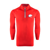 Under Armour Red Tech 1/4 Zip Performance Shirt-Jag Head