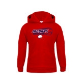 Youth Red Fleece Hoodie-Jaguars Baseball Flying Ball