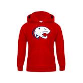 Youth Red Fleece Hoodie-Jag Head