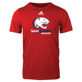 Adidas Red Logo T Shirt-Official Logo