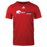 Adidas Red Logo T Shirt-Jaguar Head w/ Flat Logo