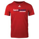 Adidas Red Logo T Shirt-South Alabama Jaguars