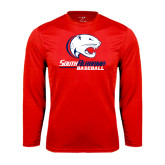 Performance Red Longsleeve Shirt-Baseball