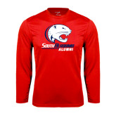 Syntrel Performance Red Longsleeve Shirt-Alumni
