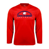 Performance Red Longsleeve Shirt-South Alabama Football Arched