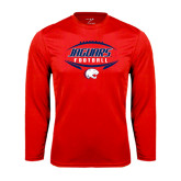 Performance Red Longsleeve Shirt-Jaguars Football In Ball