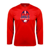 Performance Red Longsleeve Shirt-Jags Football Tall