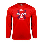 Performance Red Longsleeve Shirt-Jaguars Baseball Seams