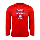 Performance Red Longsleeve Shirt-Jaguars Softball Seams