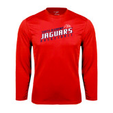 Performance Red Longsleeve Shirt-South Alabama Jaguars Basketball Slanted