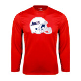 Performance Red Longsleeve Shirt-Jags Helmet