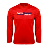 Performance Red Longsleeve Shirt-South Alabama Jaguars
