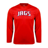Performance Red Longsleeve Shirt-Jags Arched