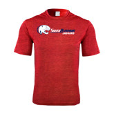 Performance Red Heather Contender Tee-Jaguar Head w/ Flat Logo
