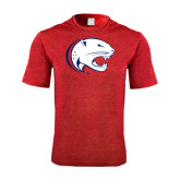 Performance Red Heather Contender Tee-Jag Head