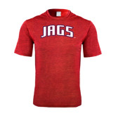 Performance Red Heather Contender Tee-Jags Arched