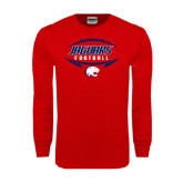 Red Long Sleeve T Shirt-Jaguars Football In Ball