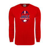 Red Long Sleeve T Shirt-Jags Football Tall