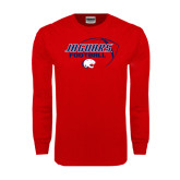 Red Long Sleeve T Shirt-Jaguars Football Stacked