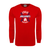 Red Long Sleeve T Shirt-Jaguars Baseball Seams