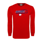 Red Long Sleeve T Shirt-Jaguars Baseball Flying Ball